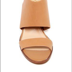 5452d4efce4 Vince Camuto Shoes - Used Vince Camuto Leena Block Heel Sandal in Beige